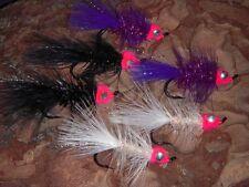 6 Egg Sucking Leech Silver Salmon Fly Fishing Alaska Flies Assortment Streamer