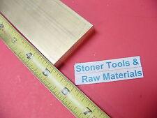 "1/2"" x 2"" C360 BRASS FLAT BAR 5"" long Solid Plate Mill Stock H02 .50""x 2.00""x 5"""