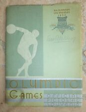 1932 Olympic Games Xth Olympiad Los Angeles Official Pictorial Souvenir