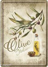 Nostalgic Art Blechpostkarte Olive Italiane Italienische Oliven Olivenöl Küche
