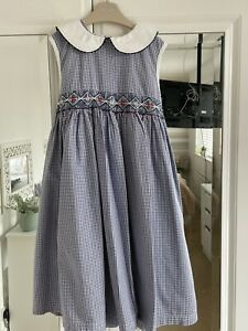 M And S Aged 3-4 Smocked Dress
