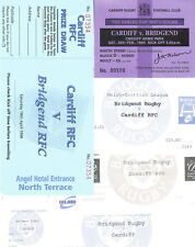 BRIDGEND v CARDIFF RUGBY TICKETS 1994 - 2003 GROUP of 5