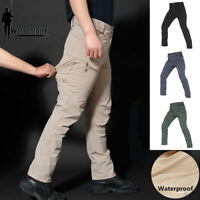 Mens Tactical Cargo Pants Combat Army Military QuickDry Summer Waterproof Casual