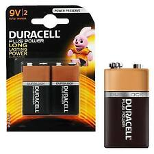 8x Duracell 9 Volt Alkaline Batteries Pp3 9v Plus Power Battery for Smoke Alarms