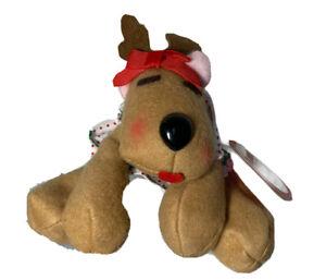 "Burger King Rhonda The Reindeer 5"" Beanbag Rodney & Friends 1987 Christmas Toy"