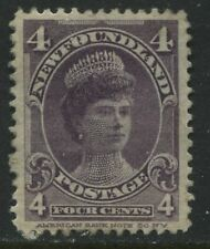 Newfoundland 1901 4 cents violet mint o.g. and VF