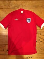 Men's Umbro England Soccer Football Red White Jersey Uniform 40 Small