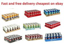 pack of 24 330ml CANS - SOFT DRINKS COCA COLA ZERO PEPSI FANTA SPRITE 7UP DIET