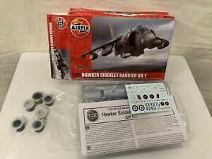 AIRFIX 1/72 HAWKER SIDDELEY HARRIER GR.1 Model Kit Opened but Not Used (001)