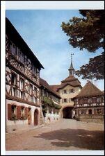 BURKHEIM Kaiserstuhl Postkarte Ansichtskarte Straßen Partie Fachwerk-Häuser