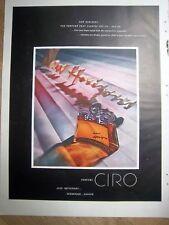 1948 CIRO New Horizons Perfume Bottle Color ad
