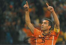 Giovanni VAN BRONCKHORST SIGNED Autograph 12x8 Photo AFTAL COA Dutch Football
