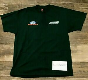 Roush Fenway Racing NASCAR FORD RACING Team Issued Shirt Large CHRIS BUESCHER