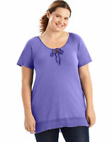 Just My Size Hi-Lo Women Tunic Shirt Top Short Sleeve 5 Colors Plus Size XL-5XL
