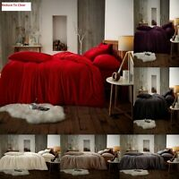 Teddy Fleece Luxury Duvet Covers Cosy Warm Soft Bedding Sets / Fitted Sheets