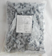 (250) Gray Grey BIG Wire Connectors Wing Twist 600V P15 P1501 Screw Nut 18-8 AWG