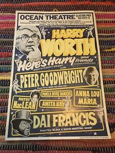 Harry Worth & Friends Ocean Theatre Clacton Pier Original Vintage Theatre Poster