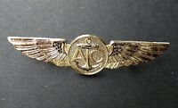 USN US NAVY AIR CREW GOLD COLORED WINGS PIN BADGE 2.75 INCHES