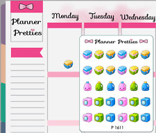 P1611 Kawaii Laundry Day Planner Stickers