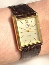 Vintage RARE Gold Plated AVON Presidents Club INGERSOLL Tank Dress Watch