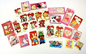 Vintage Children's Valentines Day Cards Cleo Paper Magic Lot Baby Animals
