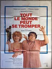 Affiche TOUT LE MONDE PEUT SE TROMPER Jean Couturier FRANCIS PERRIN 120x160cm*