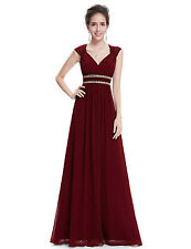 Women's Long Bridesmaid Dresses Cap Sleeve Evening Prom Party 08697 Ever Pretty