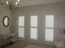 Internal Shutters PVC, Timber Custom Made Australia Delivery Variety Colours New