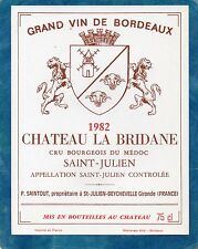 ST JULIEN CRU BOURGEOIS ETIQUETTE CHATEAU LA BRIDANE 1982 75 CL     §17/07§