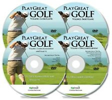 Golf Lessons DVD The Ultimate Video Course! 4 DVDs Learn How To Play Golf. New!