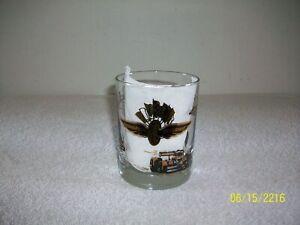 Vintage 1960's Indianapolis 500 Gold & Black Decoration Souvenir Cocktail Glass