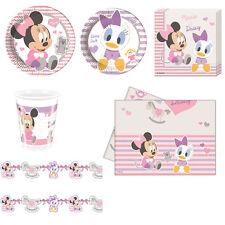 SET DA TAVOLA BABY MINNIE Party Festa Compleanno Disney Topolino Mickey Mouse