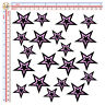 stelle rosa nero adesivi sticker helmet stars black pink casco print pvc 20 pz.