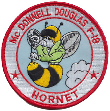 United States Navy USN McDonnell Douglas F/A-18 Hornet Cartoon Embroidered Patch