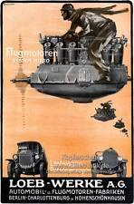 Loeb Werke AG Flugmotoren System Hiero Automobil Plakat Braunbeck Motor A2 109