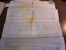 ANTIQUE DEED - LEBANON TOWNSHIP, WAYNE COUNTY PA - 1851 - VERY GOOD