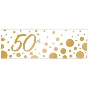 Sparkle & Shine 50th Golden Anniversary Giant Banner