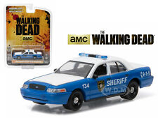 "RICK & SHANE 2001 FORD POLICE CAR ""THE WALKING DEAD"" 1/64 GREENLIGHT 44730 F"