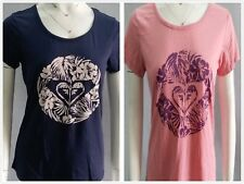 New Arrival**ROXY** Womens Tee Shirt S/Sleeve T-shirt Crew Casual Top Size XS-L