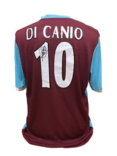 PAOLO DI CANIO SIGNED WEST HAM UNITED 10 FOOTBALL SHIRT SEE PROOF COA SOCCER