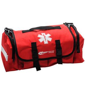 Emergency Medical Trauma Bag Red Empty