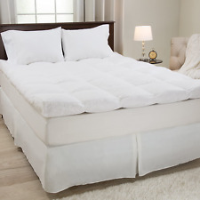 4 Inch Thick Feather Down Pillowtop Mattress Topper Gusset Matress Cotton Cover