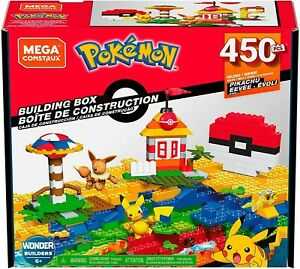 Mega Construx Pokemon Building Box Set GMD35 Let's Go! 450 pieces New Sealed
