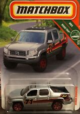 Matchbox New In Package Silver 4x4 Honda Ridgeline W/ Hitch For Pulling 1:64 DC