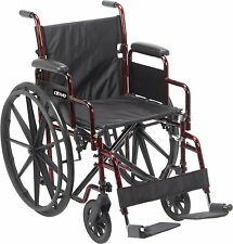 Drive Medical Rebel Lightweight Wheelchair Red 300 lbs Capacity by Drive Medical