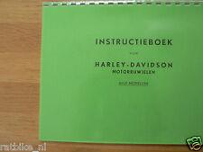 H0008 HARLEY-DAVIDSON---INSTRUCTIE BOEK ALLE MODELLEN----MODEL