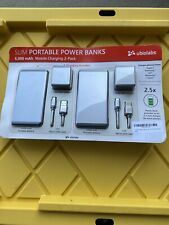 2 Ubio Labs Slim Power Banks 6000mAh RAPID CHARGE Micro USB Android, iPhone NEW