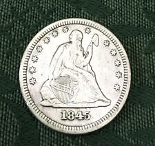 1845 Seated Liberty Quarter VF-XF