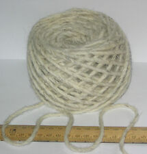 100g 100 Pure British Undyed Swaledale Thick Chunky Knitting Wool Cream Grey