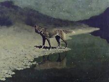 Frederic Remington MOONLIGHT WOLF CANVAS ART print